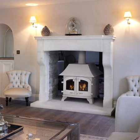 Replicate of the fireplace in the magazine.
