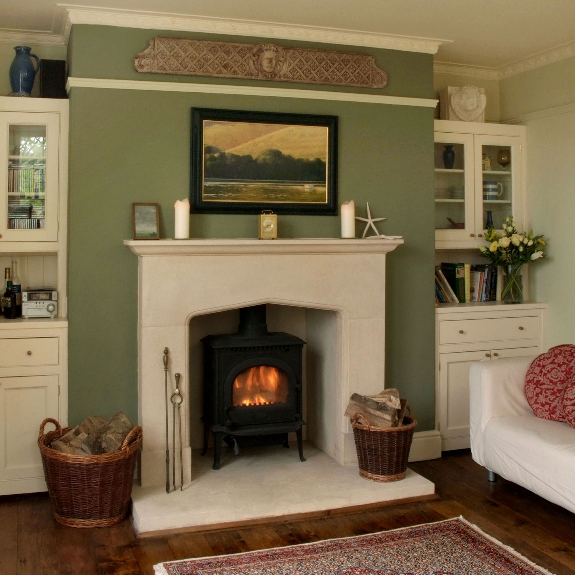 Country Style Stone Fireplace Pinckney Green