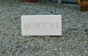 carved date plaque|Pinckney Green