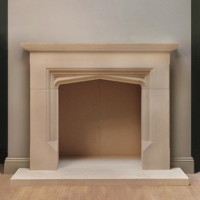 Hand Carved Stone Fire Surround Pinckney Green Fireplaces