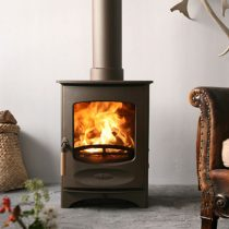 Wood burning stove.