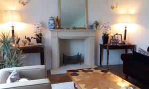 Bath stone fireplace