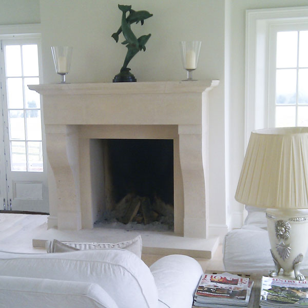 The Toulouse is one of our most popular Bath stone French fireplace designs.
