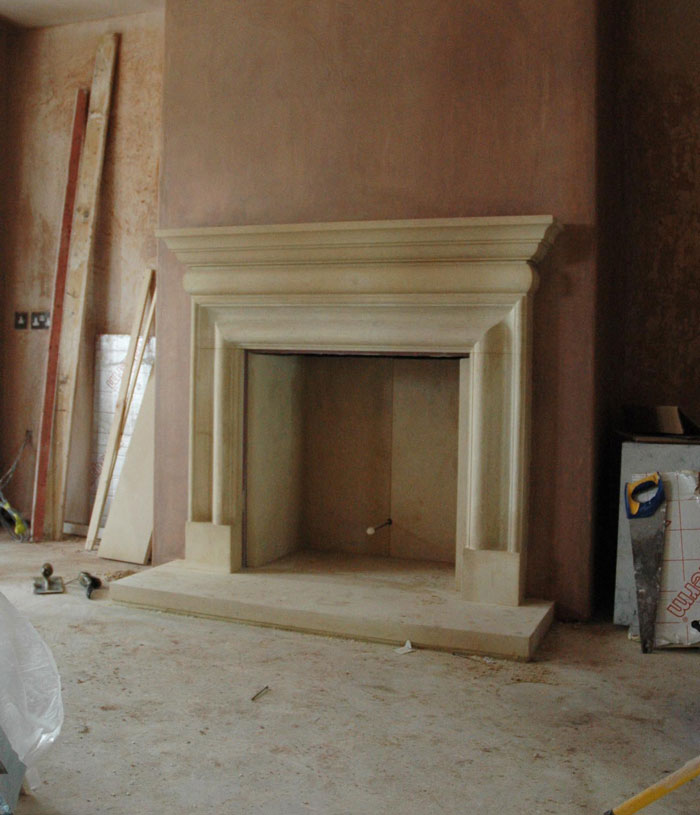 Bath stone fireplace|Pinckney Green