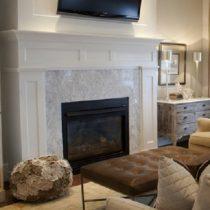 painted wooden fireplace|pinckney Green