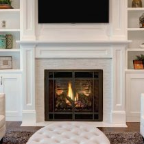 Painted wooden fireplace|Pinckeny Green
