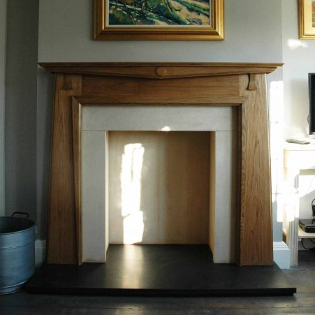 wooden fire surround|Pinckney Green