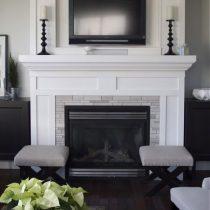 white wooden fireplace|Pinckney Green