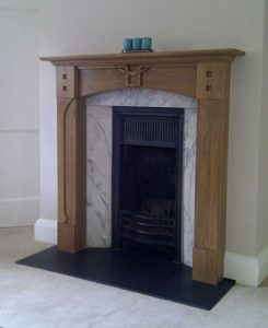 bespoke wooden fireplace