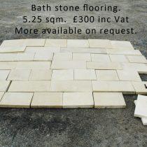 Bath stone flooring
