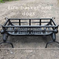 fire basket with dogs
