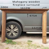mahogany fire surround