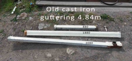 cast iron guttering
