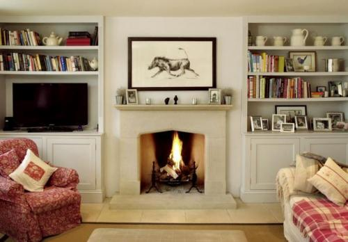 Country Tudor Style fireplace