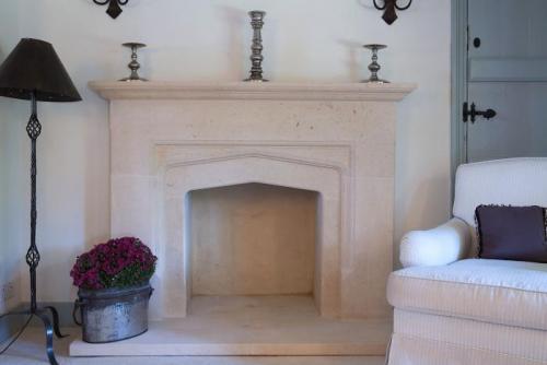 Elizabethan style fireplace